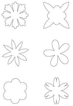 inspiración hecha a mano: Plantillas de flores