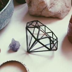 Love this little glass diamond terrarium! <3