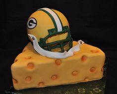 Green bay cheese head cake