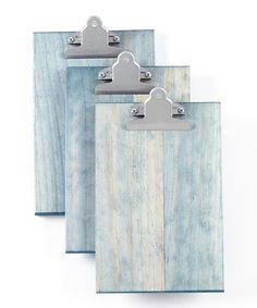 Loving this Weathered Blue Clipboard - Set of Three on #zulily! #zulilyfinds