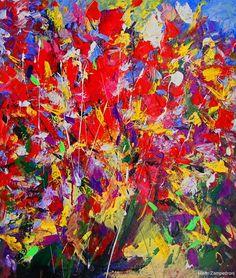 Mario Zampedroni, Flores rojas - Bouquet abstracto. http://www.imagekind.com/Red-Flowers--Abstract-bouquet-art?IMID=983327da-99b8-4edc-b9db-7b0012742ac4# flower print, mario zampedroni, canvas prints, abstract bouquet, flower paintings, red flowers, art prints, bold colors, framed prints