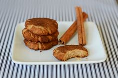 Classic grain-free Paleo Snickerdoodles cookie recipe --cinnamon, coconut sugar topped cookies, made with high-protein almond flour.