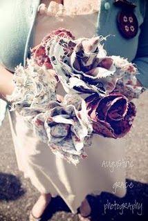 fabric wedding flowers