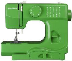A green John Lewis mini sewing machine, cute!