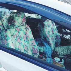floral car seat covers