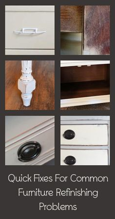 Quick Fixes For Furniture Makeover Problems