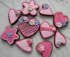 chocolate sugar cookies with royal icing