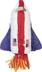 Space Shuttle Pinata with Pull String Kit by Shindigz. $10.99. Space Shuttle Pinata Blast off with this US Space Shuttle Pinata and watch your party leave the atmosphere. Filler sold separately. Pull-String Kit is included. Pinata Fillerá Our 2 lb. bag of Pinata Filler contains 1.4 lb. of candy and .6 lb. of toys and trinkets. Not intended for use by children 3 and under.