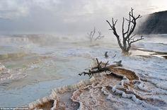 yellowston nation, nation park, missouri, mammoth hot, art