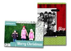 Christmas card free template 'Round-up'!  -Several free templates from different designers all in one place