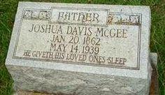 Our Own History: Tombstone Tuesday - Joshua Davis McGee #genealogy #familyhistory