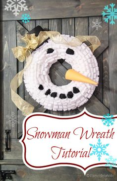 Snowman Winter Wreat