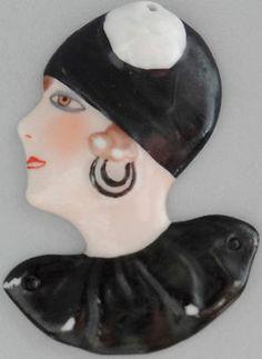 German Art Deco Lady Woman Half Doll Antique Plaque | eBay