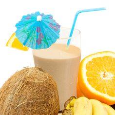 Orange Banana Coconut Cream Whey Protein Shake Recipe #Isagenix