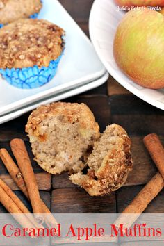 Caramel Apple Muffins ~ Love Caramel Apples Get all the flavor in these muffins!