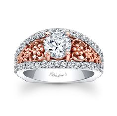 Rose Gold Engagement Ring 7822LTW