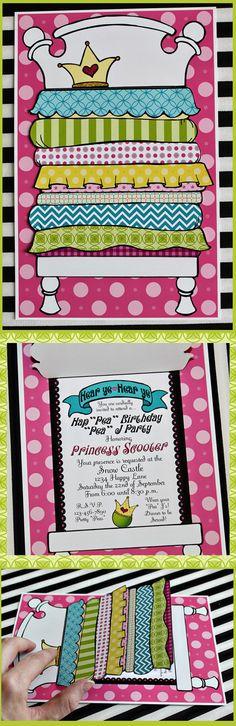 HapPEA Birthday Bed Invite