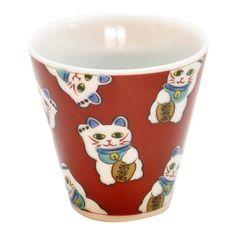 Ishikawa Kutani Sake Cup, Maneki Neko Cat