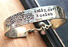 Hand Stamped Bracelet  Personalized Bracelet  by yourcharmedlife, $45.00