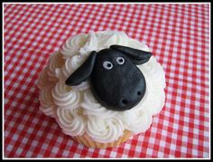 sheep cupcake كب كيك مناسب لعيد الأضحى
