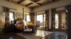 Sanctuary Visualization – Tuscan Style Master Bedroom
