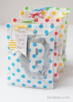 Painted Party Favor Bags