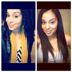 Curly hair VS. Straight hair.