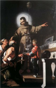 The Miracle of St. Diego of Alcantara - Bernardo Strozzi.  1625.  Oil on canvas.  250 x 170 cm.  Church of the Santissima Annunziata, Levanto, Italy.
