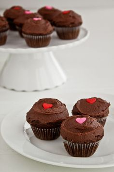 Simple Chocolate Cupcakes | Dessert for Two