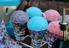 Homemade Snow Cones: 3 Ingredient Syrup Recipe..Water, sugar, Koolaid