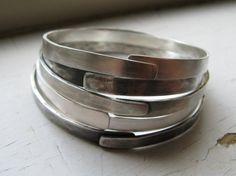 Stacked bracelets by ericawalker