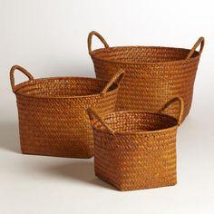 One of my favorite discoveries at WorldMarket.com: Orange Round Michelle Baskets