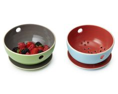 BERRY BOWL AND TRAY | Ceramic, Dish, Tray, Container, Storage, Fruit, Ceramic, Pottery, Glazed | UncommonGoods