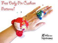 Free Wrist and Ring Doll Pin Cushions Sewing Patterns
