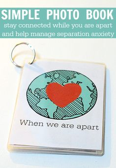 Being away is hard but this simple DIY book helps ease separation anxiety.