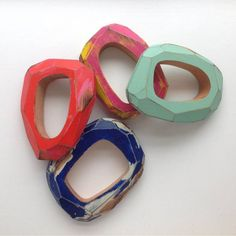 Wooden bangles by Cristina Zani