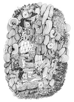 just love these pen and ink drawings from etsy