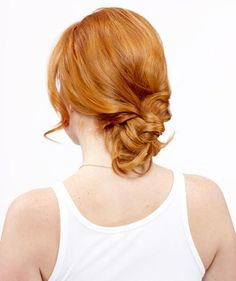 How to do a quick (and glamorous!) braided bun.
