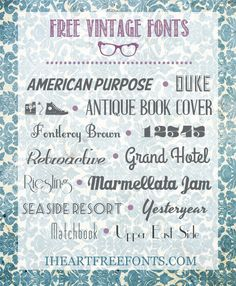14 Free Vintage Fonts - I Heart Free Fonts  {with easy download links}