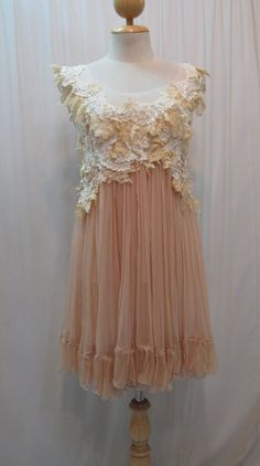 Custom Made Pretty Chiffon Babydoll Dress by Madabby on Etsy, $178.00