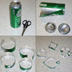 Buenisimo ¿Como hacer moldes de galletas con latas? muy buena manera de reciclar