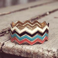 Chevron Stacks Bracelet