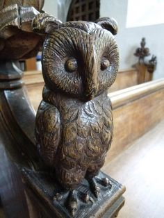 Church of St John the Baptist, Danbury: carving on pew | Flickr - Photo Sharing!