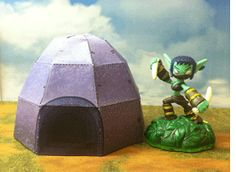 This paper version of your Lair is a perfect home for any Skylander!