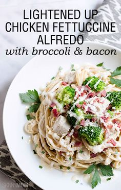 If you're looking for an amazing healthy pasta dish, look no further!  This fettuccine alfredo is absolutely delicious and so easy to make!