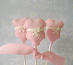 Pink Onesie Baby Shower Cake Pops