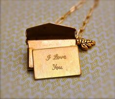 Brass Love Letter Necklace