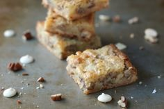White Chocolate Brownies with Pecans