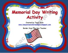 Memorial Day weekend writing activity