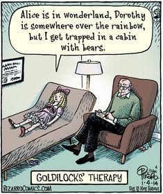 Goldilocks in therapy